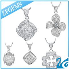 Micro pave 925 sterling silver pendant