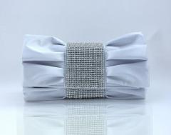 FX2784 Fashion Wholesale silk rhinestone evening clutch bags