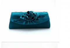 FX00335 Ladies Colorfu satin evening bags with flowers