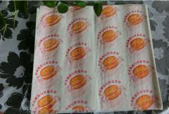 Printing burger wrapper sandwich wrapper