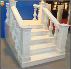 White marble handrail 8x18 cm