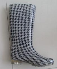 Fashion Lady Rubber boots printed color