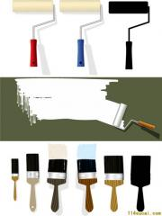 Paint brushes and rollers