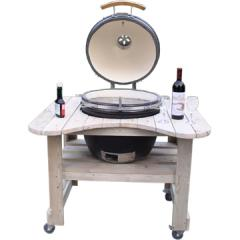 Wooden table Luxury bbq ceramic gril HTL-21W1