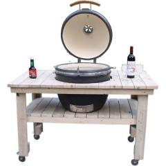 Charcoal grills with wooden table HTL-21W2