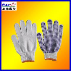 Factory chepast safty working gloves dotted 600g