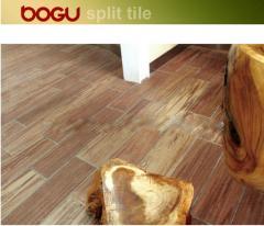 Wooden design terracotta ceramic floor tile