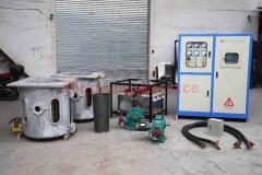 Smelting machine for aluminum