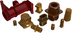 Polymer supporting insulators