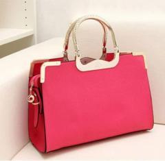 8210三色(玫红色)2013新款复古手提包新娘包欧美手提斜跨包优质定型包包