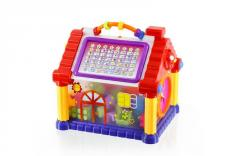 Electronic learning toys with block toys house