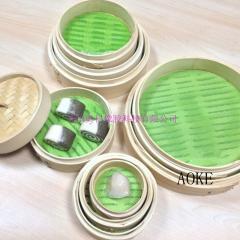 Silicone fiberglass steamer mat