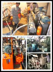 Hydraulic piston grout pump