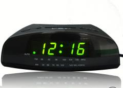 LED desk alarm clock and radio VST-905