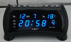 LED desk alarm clock with calendar VST-761WX