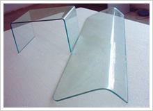 90degree bending tempered glass