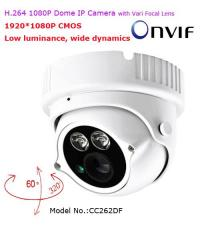 H.264 1080P Infrared Dome IP Camera with Vari