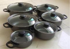 12pcs carbon steel pan set