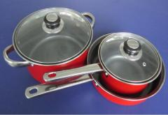 5pcs carbon steel pan