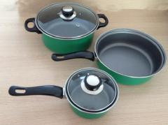 5pcs carbon steel pan 0.5