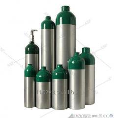 DOT standard Aluminum medical Oxygen cylinder