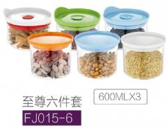 Borocillate glass container set	 FJ015-6