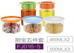 Borocillate glass container set FJ016-5