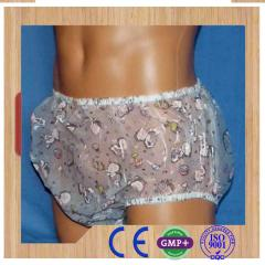 Transparent PVC diapers PVC adult plastic pants