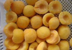 Frozen yellow peach