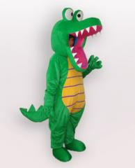 Green Crocodile formal dress mascot fancy dress custom mascot made,cartoon costume