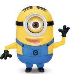 Yellow funny plush man mascot costume, mascot costumes,party costumes