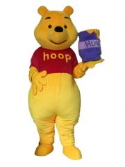 Winnie bear costume Mascot,Long Plush mascot character,Winnie the Pooh Cartoon Character