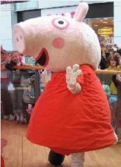 Peppa pig custom mascot made,cartoon mascot,trade show mascot,customize mascot
