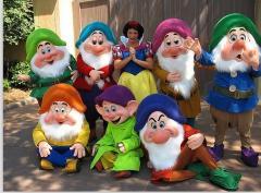 Seven Dwarfs costume Mascot,Long Plush mascot character,Little Man Cartoon Character