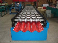 Equipment for the production of profile flooring