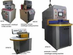 Machines for under pressure casting of metals