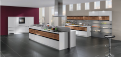 High gloss uv kitchen cabinet from China