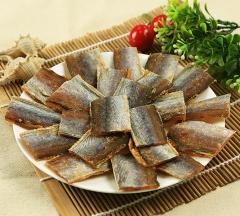 Кусочки янтарной рыбки с перцем.