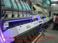 Thailand parboiled rice color sorter with big