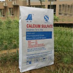 Food grade calcium sulfate.