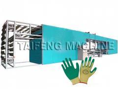 Latex gloves half dipping machine