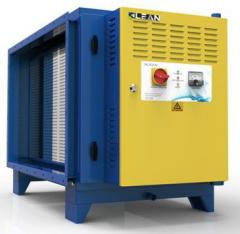Self-cleaning plasma waste gas purifier for HVAC