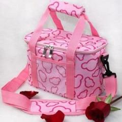 NEW Lovely Insulated Picnic Bag Lunch Pouch Keep Hot Cooler Bag Bento BagsPink-picnic bag