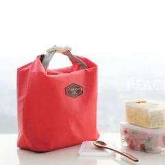 Portable Lunch Carry Tote Bags Thermal Cooler Insulated Storage Pouch Picnic Red-lunch bag
