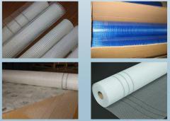 Exterior fiberglass mesh