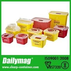 Plastic Medical sharps container for collecting