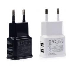 2A Dual 2 Ports USB Mobile Phone EU Wall Charger