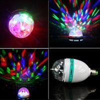 RGB Crystal Ball Effect Light E27 LED Rotating