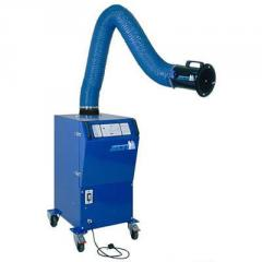 Two-arm movable welding dust cleaner