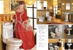 浴室套间/卫浴套间/马桶/座厕/妇洗器/立柱盆